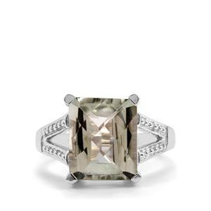 5.79ct Prasiolite Sterling Silver Ring
