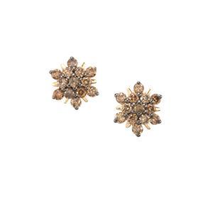1/2ct Champagne Diamond 10K Gold Tomas Rae Earrings