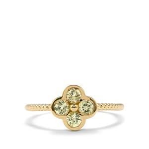 Brazilian Chrysoberyl Ring in 10k Gold 0.60cts