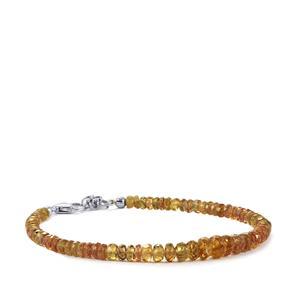 36.71ct Colour Change Garnet Sterling Silver Graduated Bead Bracelet