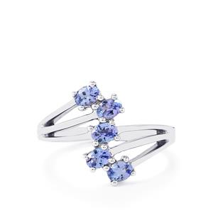 Tanzanite Ring in Sterling Silver 0.80cts