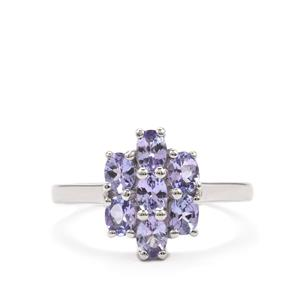 Tanzanite Ring in Sterling Silver 1.29cts