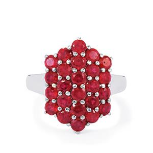 4.90ct Madagascan Ruby Sterling Silver Ring (F)
