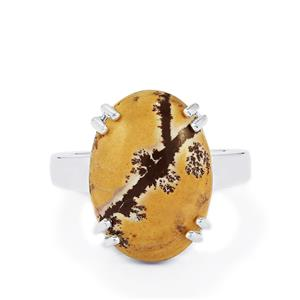 7.42ct Sonora Dendrite Sterling Silver Ring