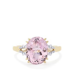 Kolum Kunzite Ring with Diamond in 9K Gold 4.73cts