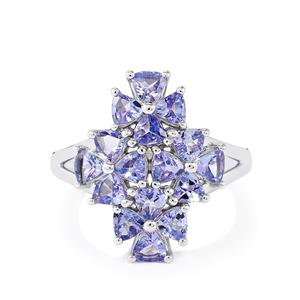Tanzanite Ring  in Sterling Silver 2.46ct