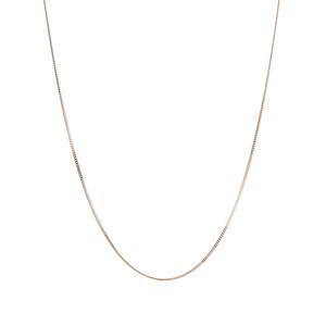 """18"""" 18K Gold Classico Diamond Cut Curb Chain 0.74g"""