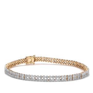 Diamond Bracelet in 9K Gold 2.55ct