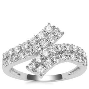 Diamond Ring in 18k White Gold 1ct