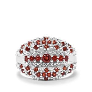 1.25ct Nampula & Rajasthan Garnet Sterling Silver Ring