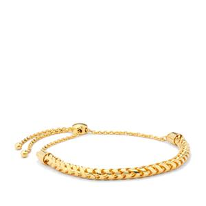 "10"" Midas Altro Franco Round Slider Bracelet 9.74g"