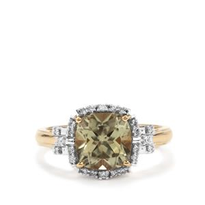 Csarite® Ring with Diamond in 18K Gold 2.65cts