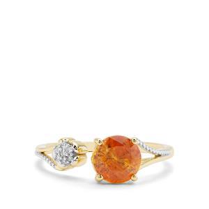 1.80ct Aliva Sphalerite & Diamond 9K Gold Ring