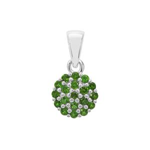 Chrome Diopside Pendant in Sterling Silver 0.50ct