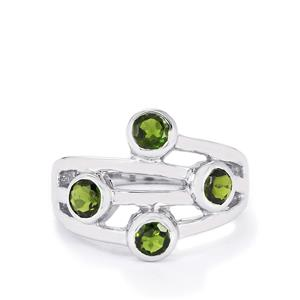 1.25ct Chrome Diopside Sterling Silver Ring