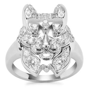 White Zircon Ring in Sterling Silver 0.58ct