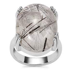 São Paulo Tourmalinated Quartz Ring in Sterling Silver 21cts