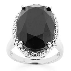 Black Onyx Ring in Sterling Silver 9.44cts