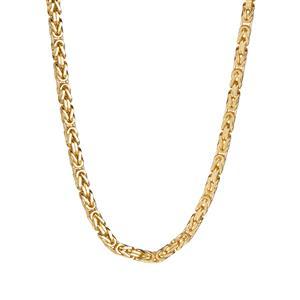 9K Gold Altro Square Byzantine Necklace 15.43g
