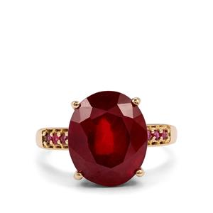 Malagasy Ruby Ring in 10K Gold 9.59cts (F)