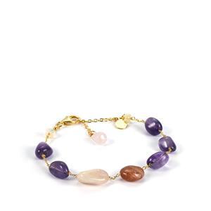 Kaleidoscope Gemstones Bracelet in Sterling Silver Sarah Bennett 34.75cts