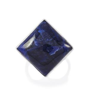 14.34ct American Sodalite Sterling Silver Aryonna Ring