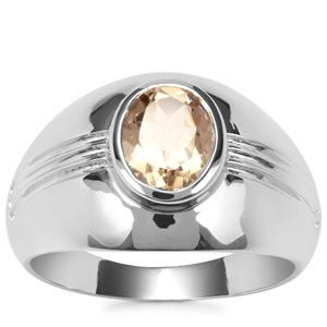Champagne Quartz Ring in Sterling Silver 1.56cts