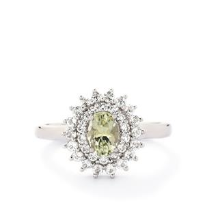 Kerala Sillimanite & White Topaz Sterling Silver Ring ATGW 1.66cts