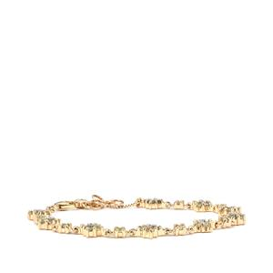 Alexandrite & Diamond 10K Gold Tomas Rae Bracelet ATGW 1.26cts