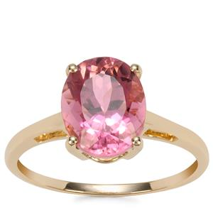 Congo Pink Tourmaline Ring in 9K Gold 2.49cts