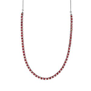 9.90ct Malagasy Ruby Sterling Silver Slider Necklace (F)