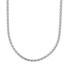 """20"""" Sterling Silver Dettaglio Slider Serpentina Chain 4.21g"""