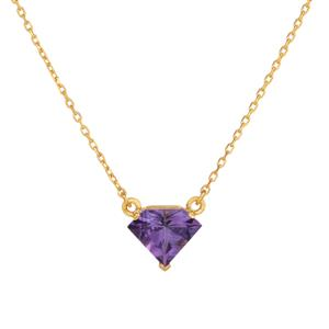 Bahia Amethyst Necklace  in Gold Plated Sterling Silver 2.38cts