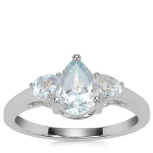 Sokoto Aquamarine Ring with Sky Blue Topaz in Sterling Silver 1.20cts