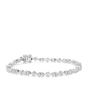 Diamond Bracelet in Sterling Silver 1ct