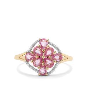 1.06ct Sakaraha Pink Sapphire 9K Gold Ring