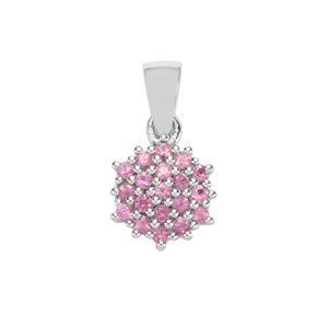 0.58ct Sakaraha Pink Sapphire Sterling Silver Pendant