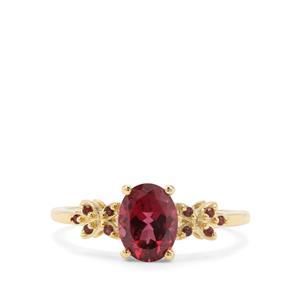 1.59ct Mahenge Purple & Rajasthan Garnet 9K Gold Ring