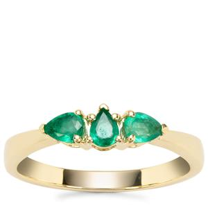 Zambian Emerald Ring in 9K Gold 0.40cts