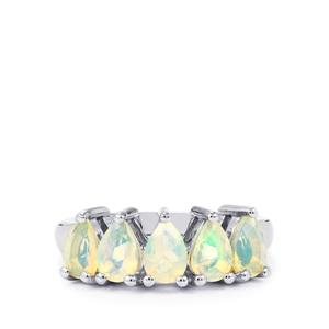 1.32ct Ethiopian Opal Sterling Silver Ring
