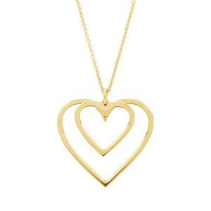 """16"""" Midas Altro Double Heart Necklace 1.40g"""