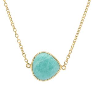 Amazonite Necklace in Gold Plated Sterling Silver 10.95cts