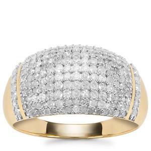 Diamond Ring in 9K Gold 0.90ct