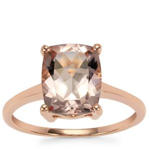 Alto Ligonha Morganite Ring in 10K Rose Gold 2.65cts