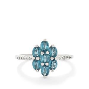 Orissa Kyanite & White Topaz Sterling Silver Ring ATGW 1.62cts