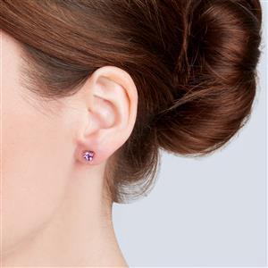 Moroccan Amethyst Earrings in 10k Rose Gold 0.92ct