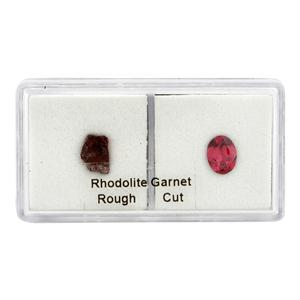 Rhodolite Garnet Rough & Cut