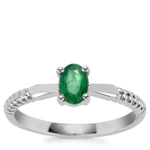 Bahia Emerald Ring in Sterling Silver 0.40cts