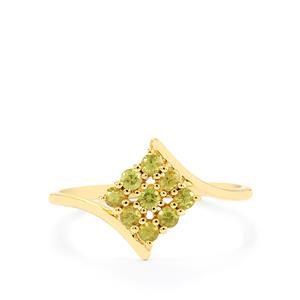 Ambanja Demantoid Garnet Ring  in 10K Gold 0.38ct