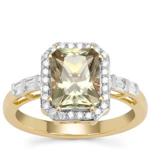 Csarite® Ring with Diamond in 18K Gold 2.70cts